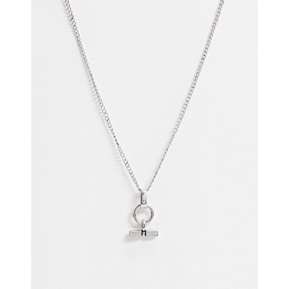 Collier chaîne avec pendentif en T - Icon Brand - Modalova