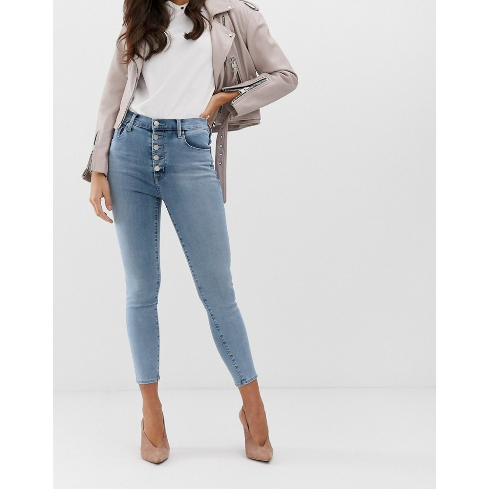 Lillie - Jean skinny taille haute avec bouton apparent - J Brand - Modalova