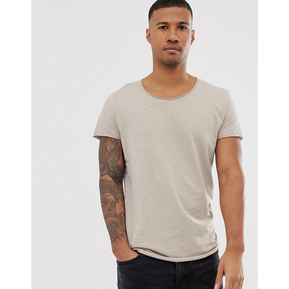 Essentials - T-shirt long à encolure dégagée - jack & jones - Modalova