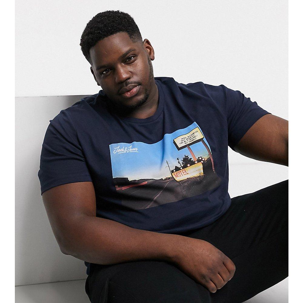 Originals - T-shirt à imprimé graphique - Bleu marine - jack & jones - Modalova
