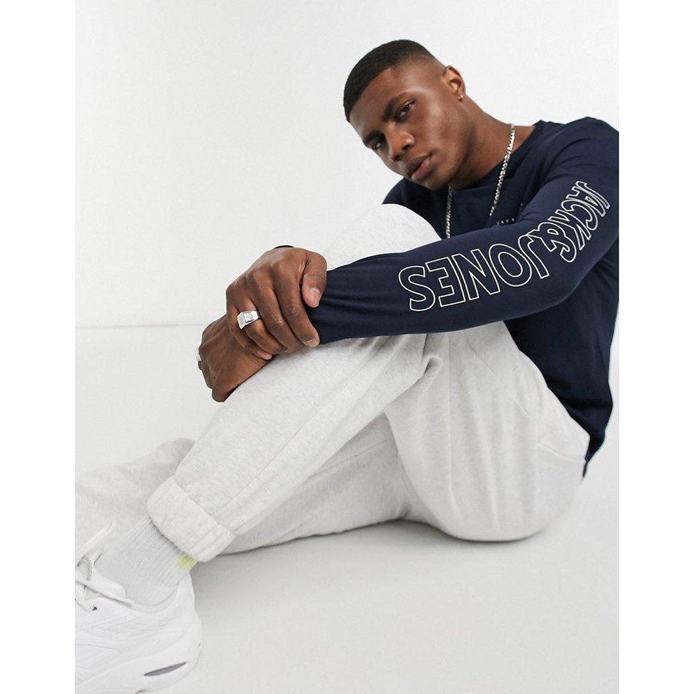 Originals - T-shirt avec manches longues à imprimé - Bleu marine - jack & jones - Modalova
