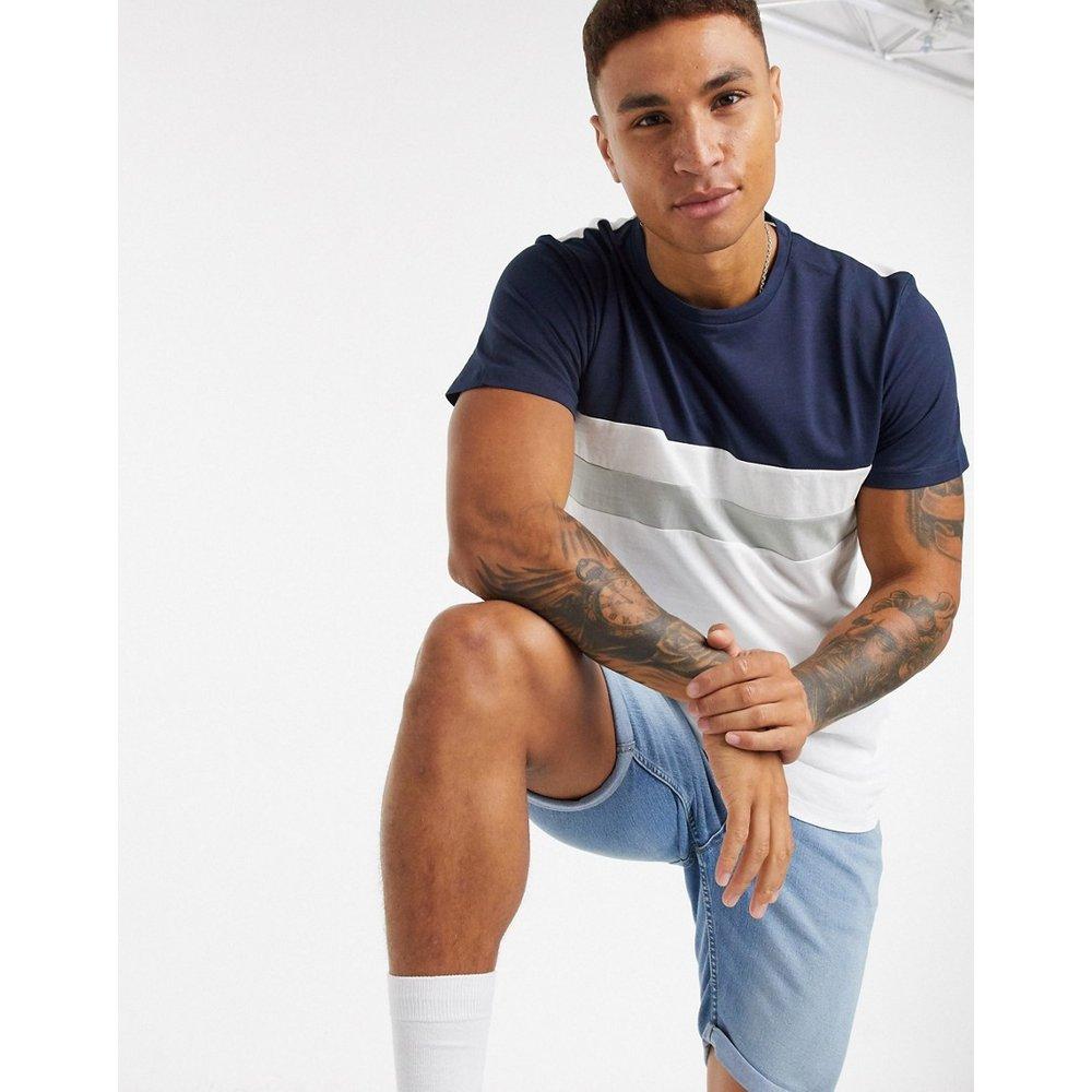 Originals - T-shirt long à rayures - Bleu marine - jack & jones - Modalova