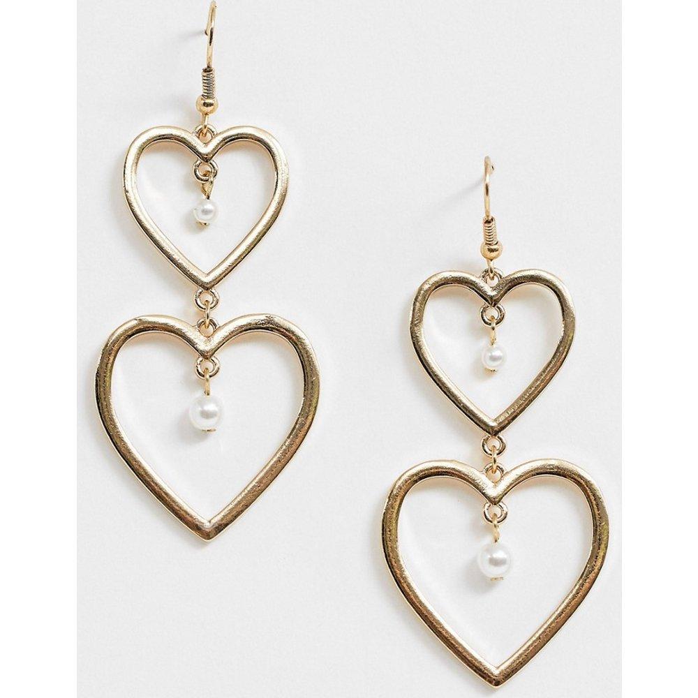 Boucles d'oreilles cœur ornées de pierres - Johnny Loves Rosie - Modalova