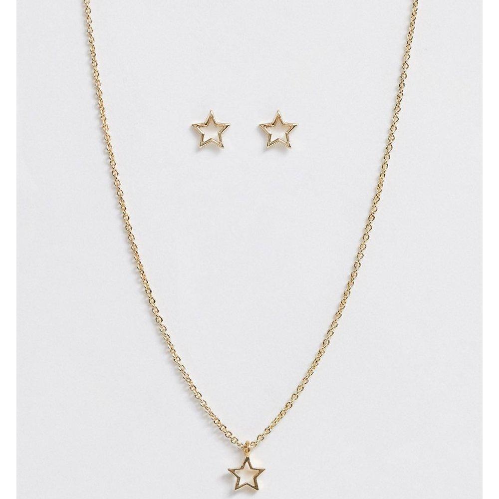 Coffret cadeau de Noël avec boucles d'oreilles et collier motif étoile - Johnny Loves Rosie - Modalova