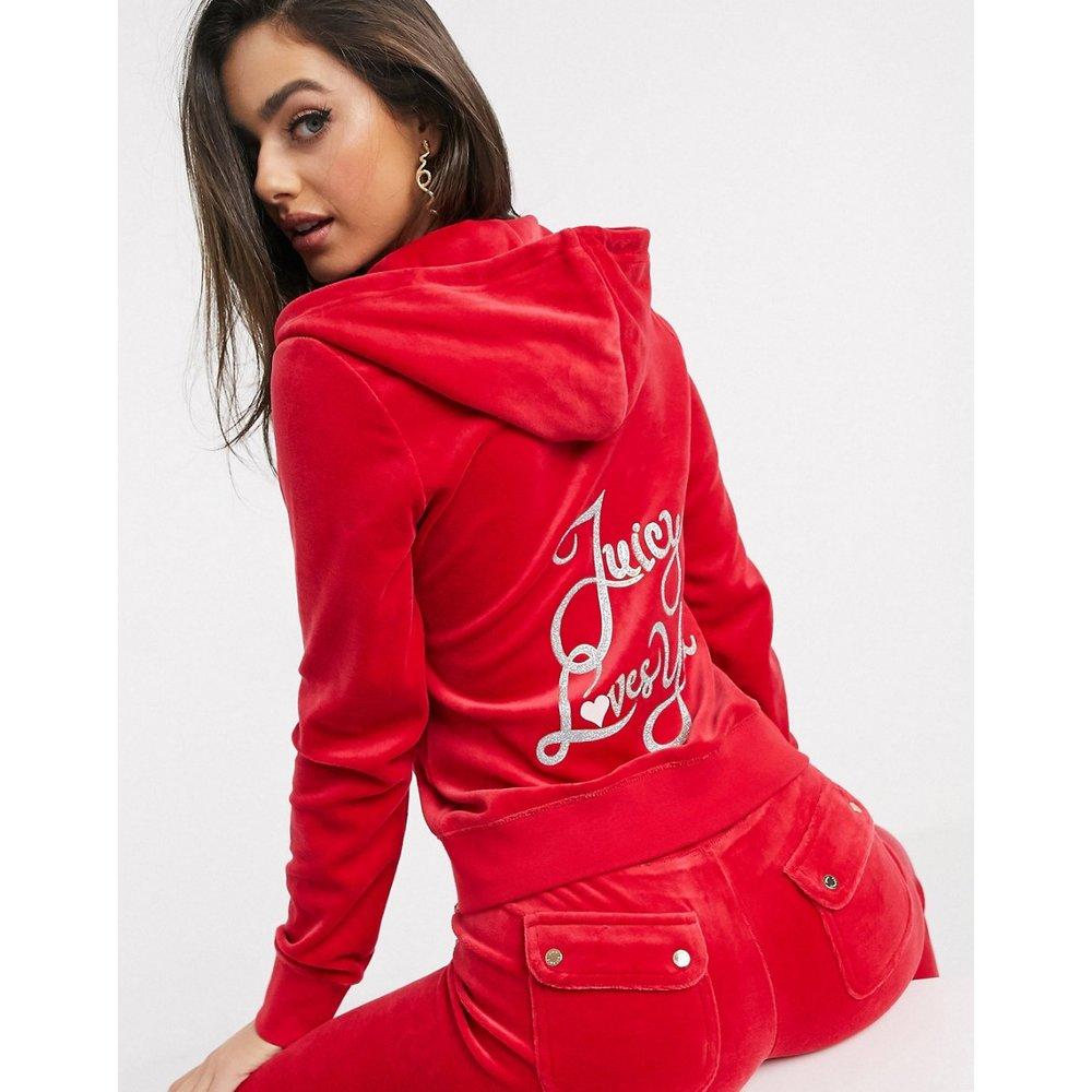 Black Label Juicy Love Velour Robertson - Hoodie - Juicy Couture - Modalova