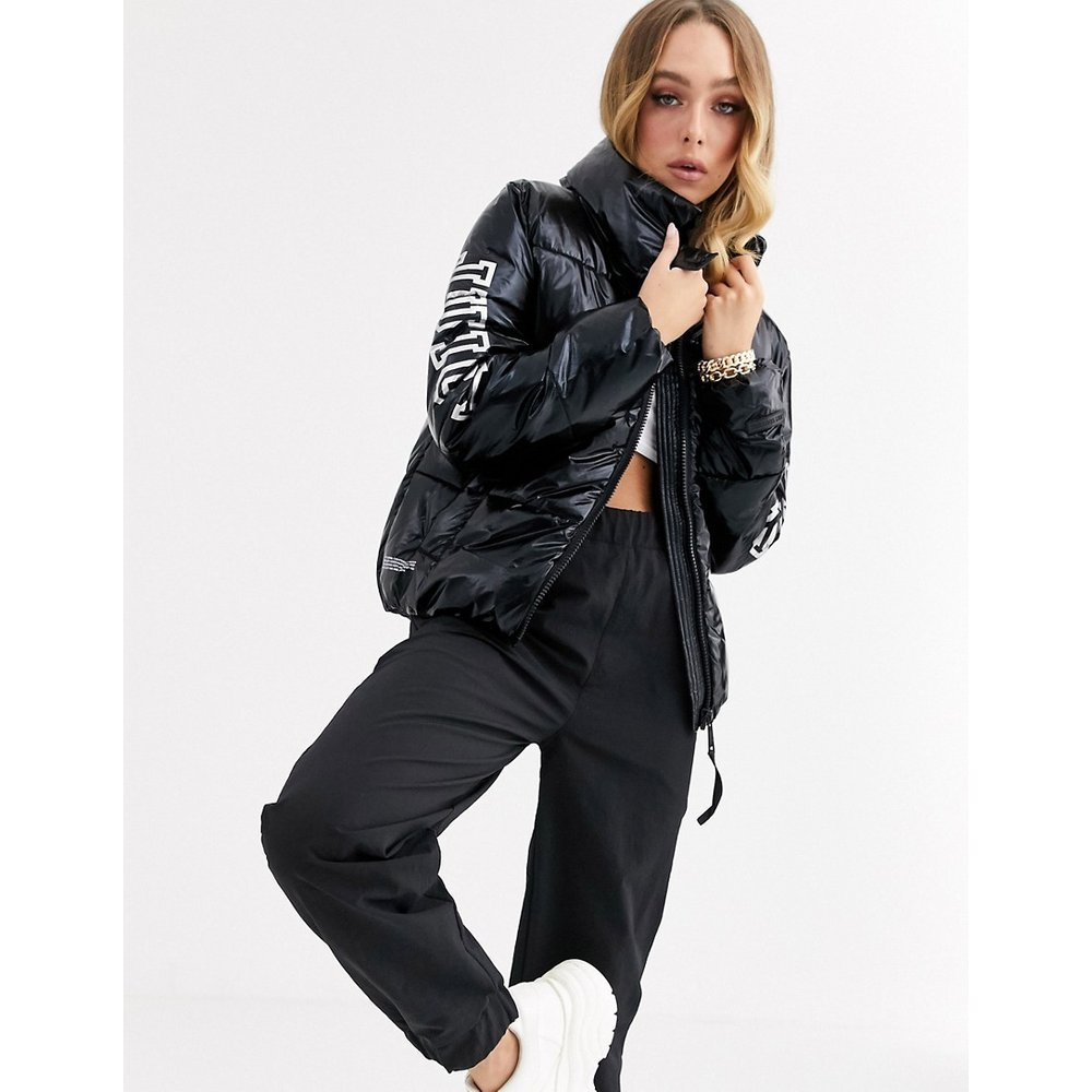 I Love Juicy - Doudoune brillante avec logo - Juicy Couture - Modalova