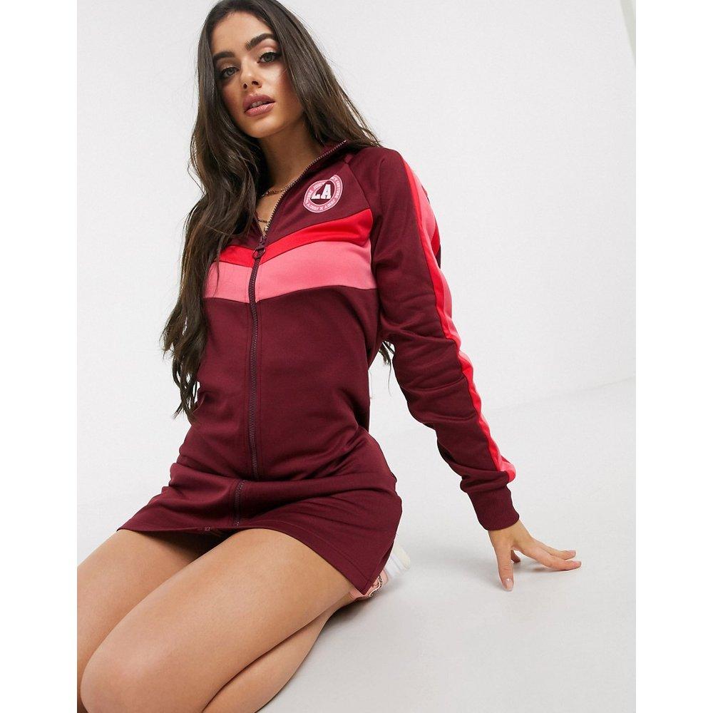 Jxjc - Claret - Robe color block en maille de polyester à logo avec faux col - Rose - Juicy Couture - Modalova