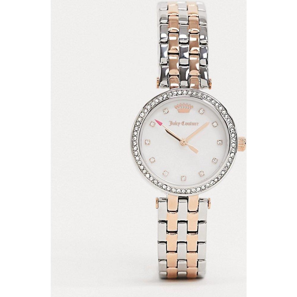 Montre avec strass et logo couronne - Or et argent - Juicy Couture - Modalova