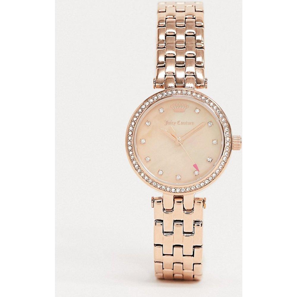 Montre avec strass et logo couronne - Or rose - Juicy Couture - Modalova