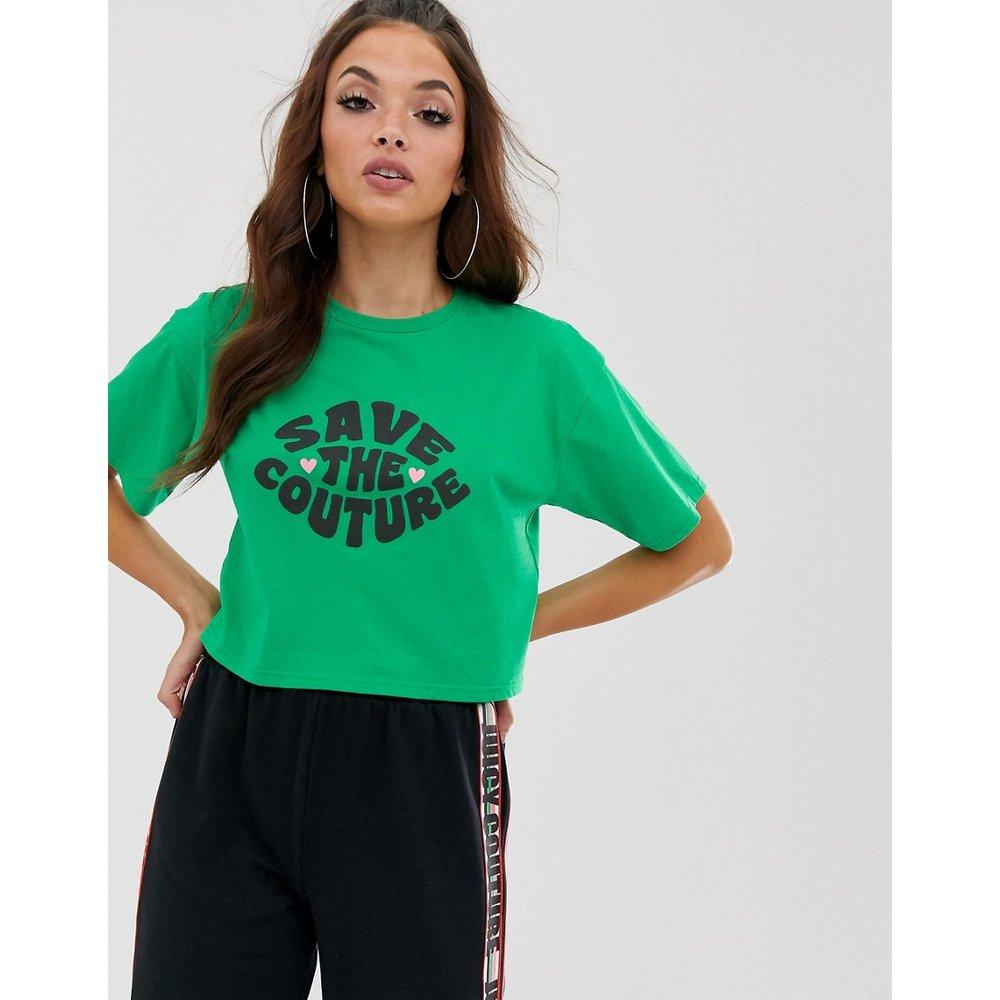 Save the couture - T-shirt coupe carrée avec inscription - Juicy Couture - Modalova