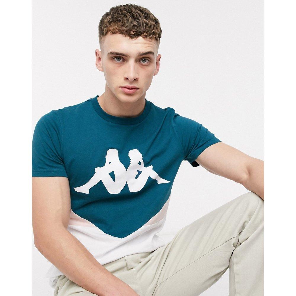 Authentic Bifut - T-shirt color block à grand logo - Pétrole/rose - Kappa - Modalova