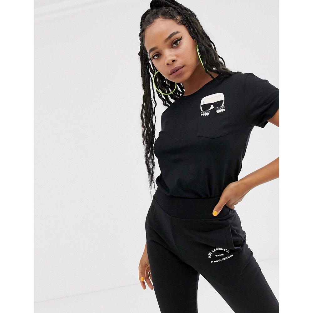 Ikonik karl - T-shirt à poche - Karl Lagerfeld - Modalova