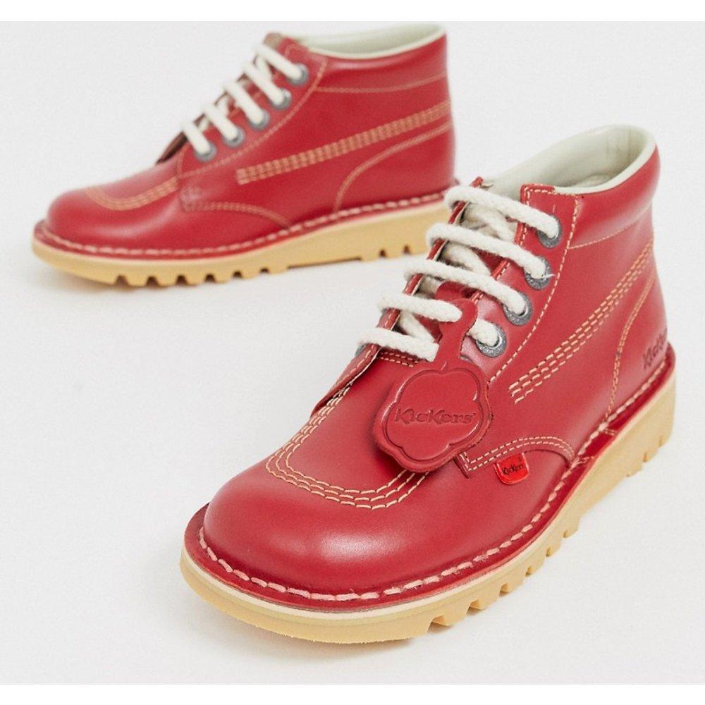 Kick Hi Core - Chaussures montantes plates en cuir - Kickers - Modalova
