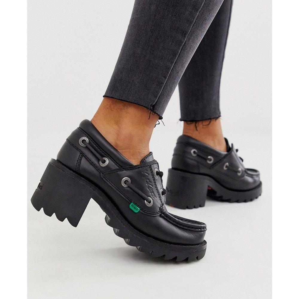 Klio - Chaussures en cuir à lacets avec petits talons - Kickers - Modalova