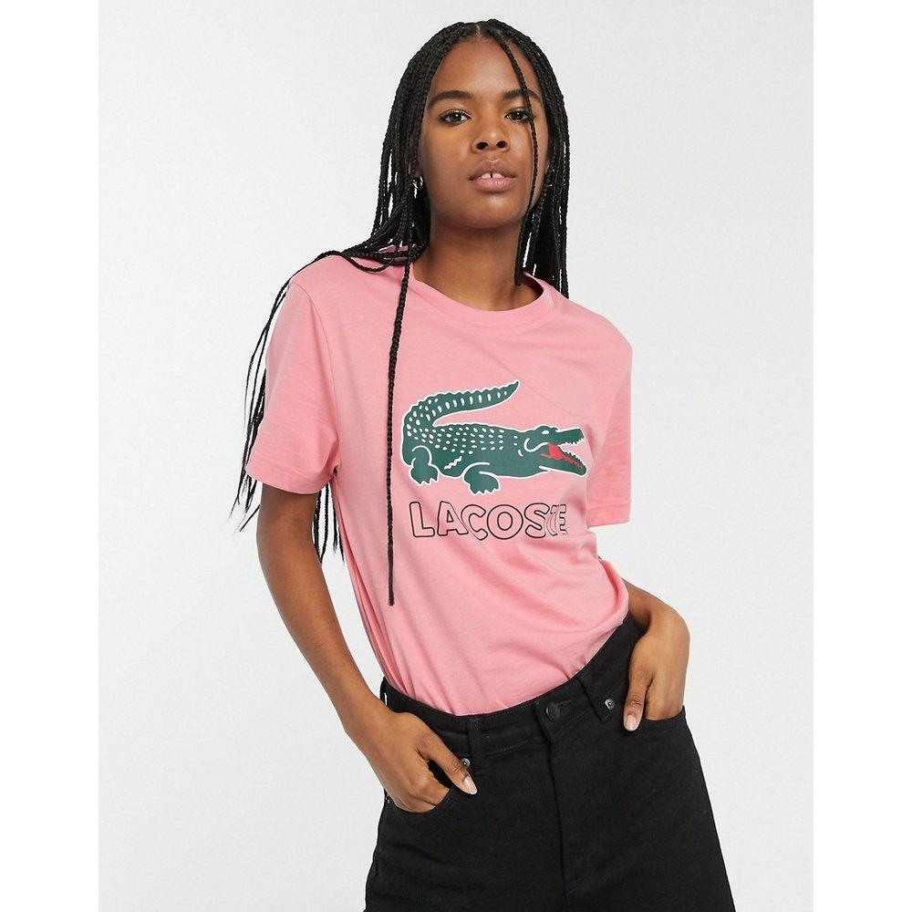 T-shirt avec logo rétro croco - Lacoste - Modalova