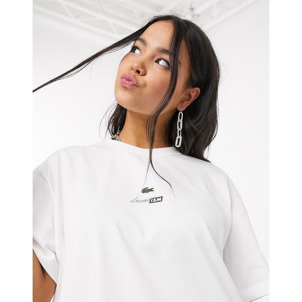 T-shirt coupe carrée à logo crocodile - Lacoste - Modalova