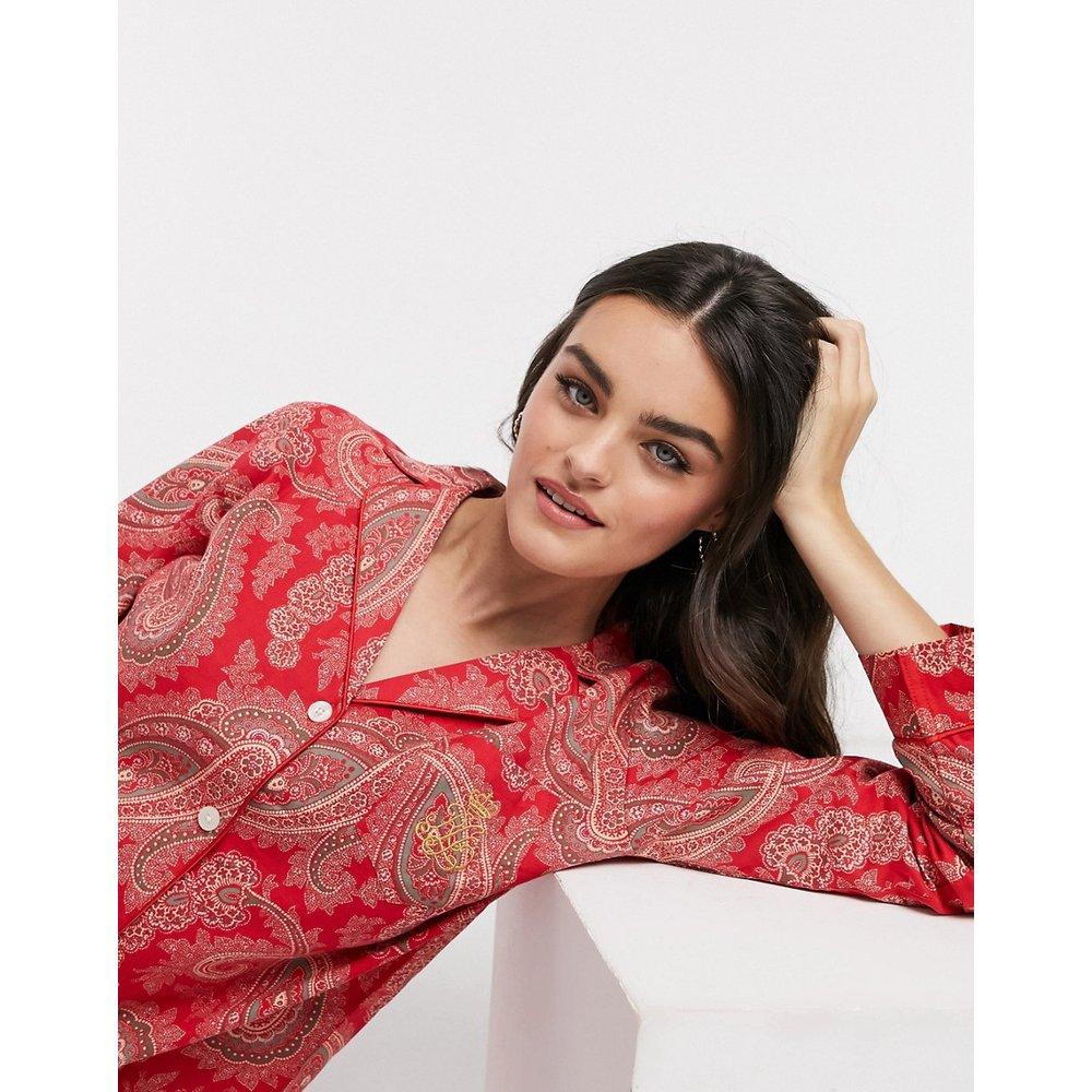 Ensemble pyjama avec col à encoche - Cachemire - LAUREN by RALPH LAUREN - Modalova