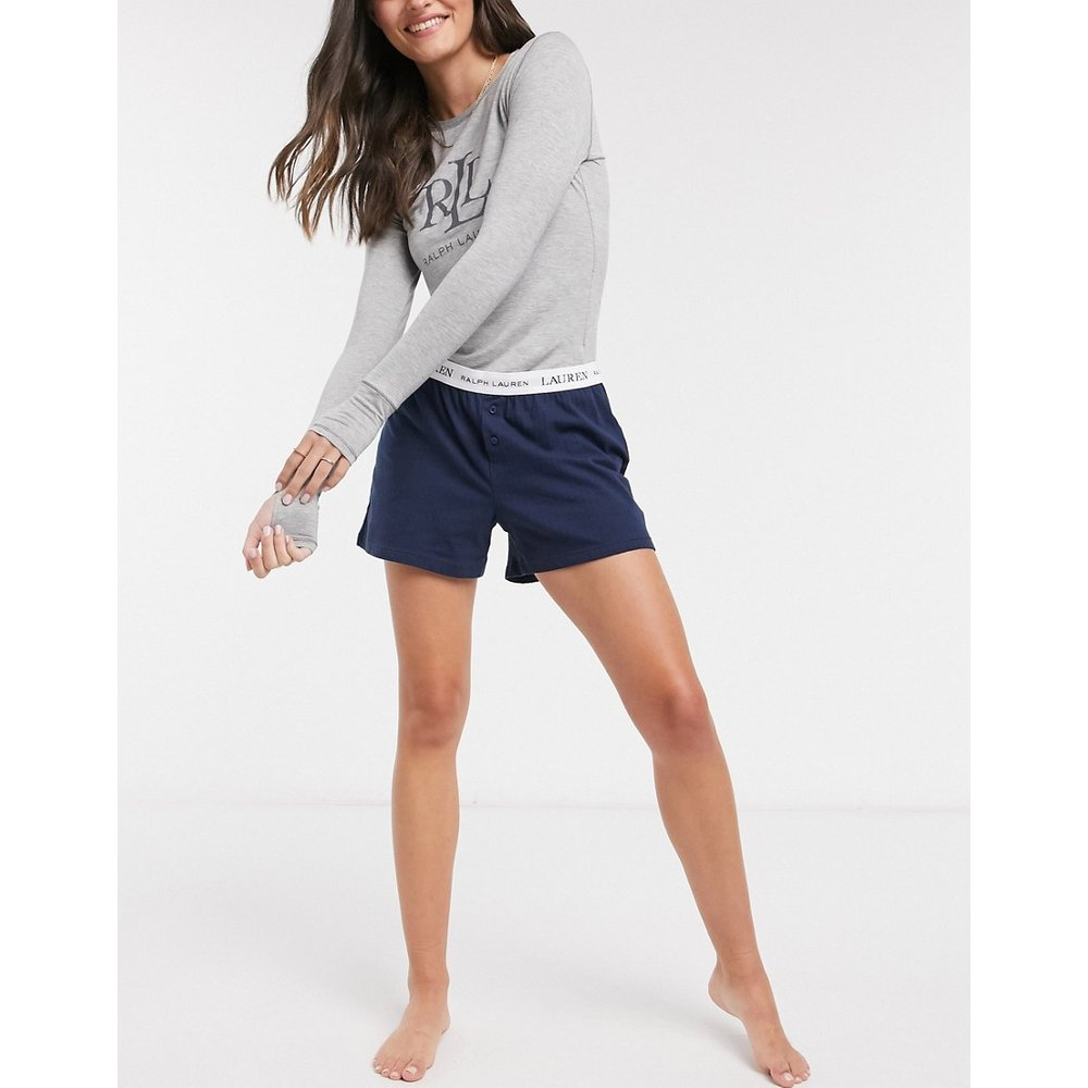 Short confort style caleçon avec logo - Bleu marine - LAUREN by RALPH LAUREN - Modalova