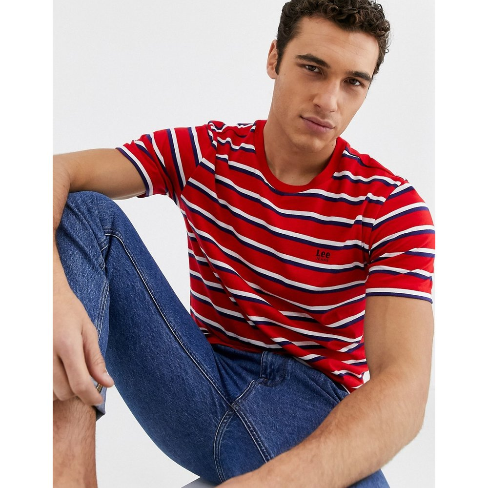 Lee Jeans - T-shirt rayé - Rouge - Lee - Modalova