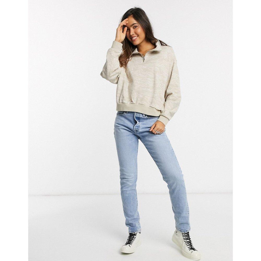 Sweat-shirt à motif camouflage avec demi-patte zippée - Levi's - Modalova