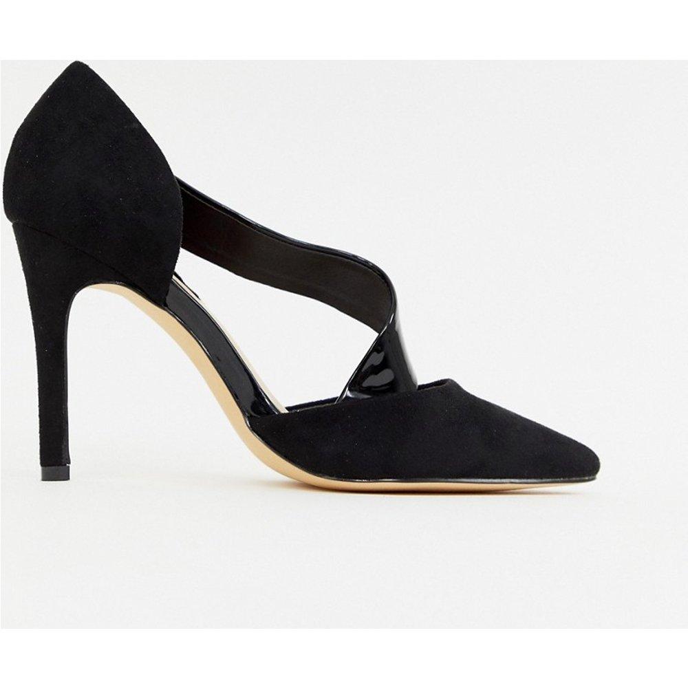 Chaussures à talon vernies à bout pointu et brides croisées - London Rebel - Modalova