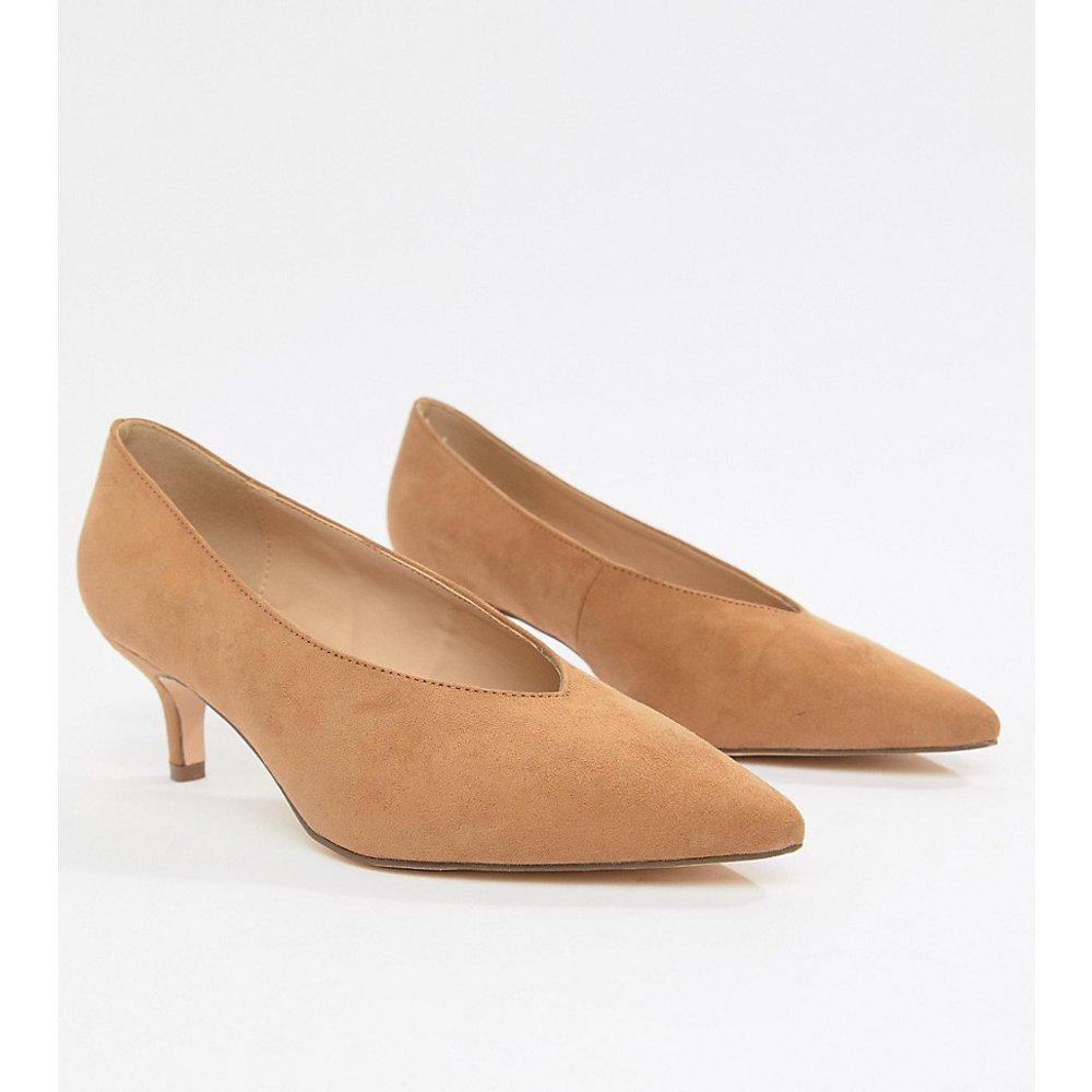 Chaussures pointues à talons bobines et pointure large - London Rebel - Modalova