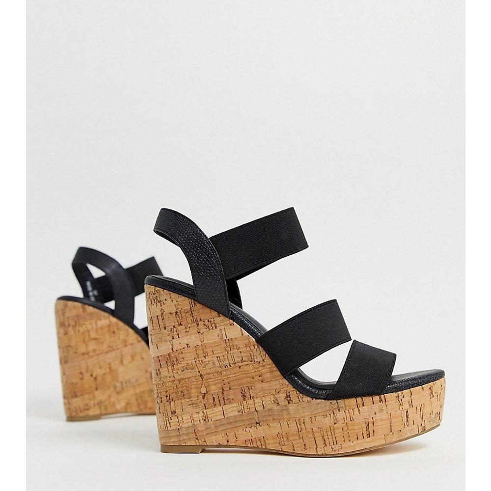 Chaussures pointure large à semelles compensées en liège et talons hauts - London Rebel - Modalova
