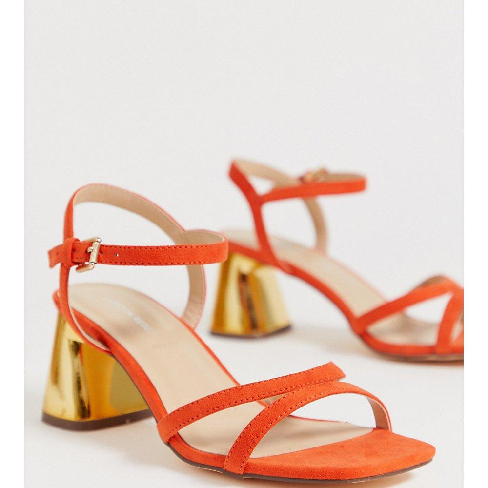 Sandales cloutées pointure large à talons mi-hauts - London Rebel - Modalova