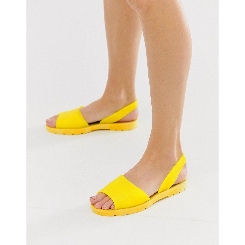 Sandales plates en plastique souple avec bride arrière - London Rebel - Modalova