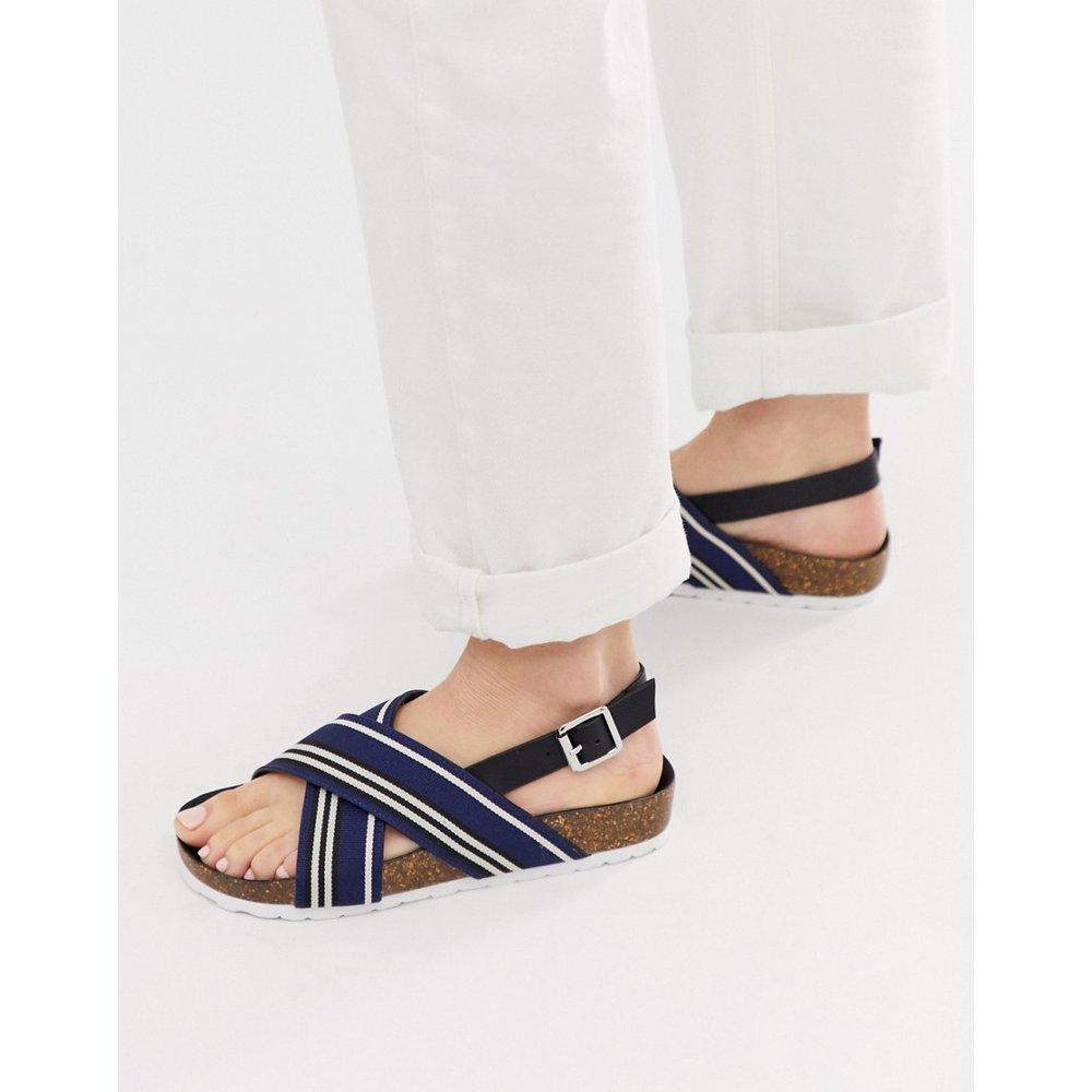 Sandales plates style sport à brides croisées - London Rebel - Modalova