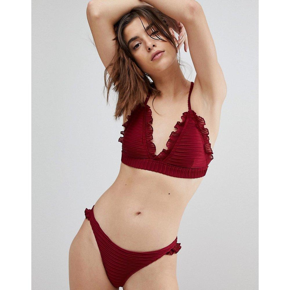 Haut de bikini à bordure volantée - Lost Ink - Modalova