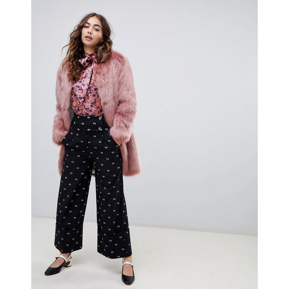 Pantalon large à pois - Lost Ink - Modalova