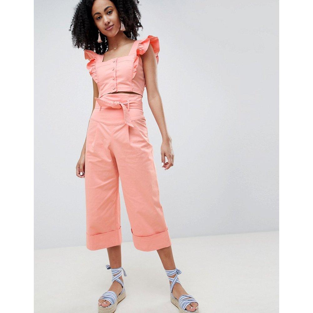 Pantalon large d'ensemble avec taille haute - Lost Ink - Modalova