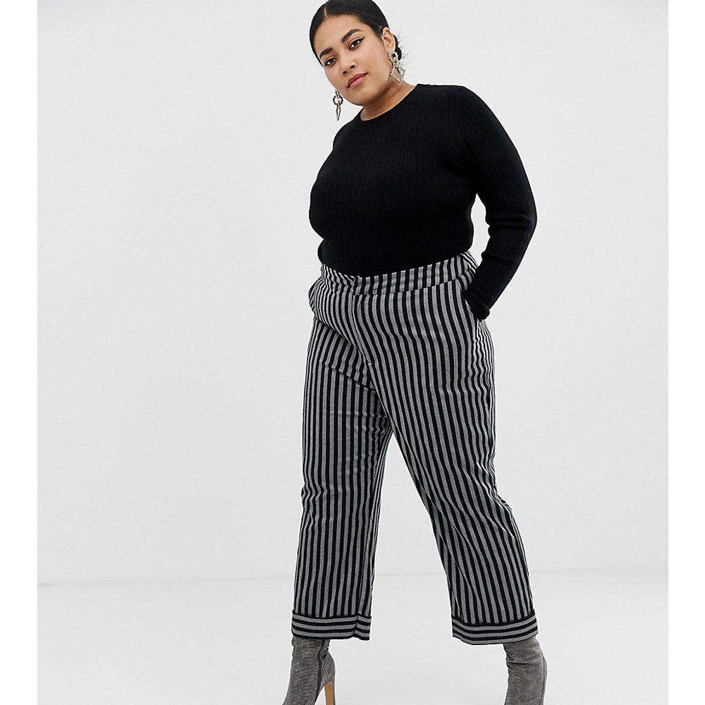Pantalon ajusté à rayures - Lost Ink Plus - Modalova
