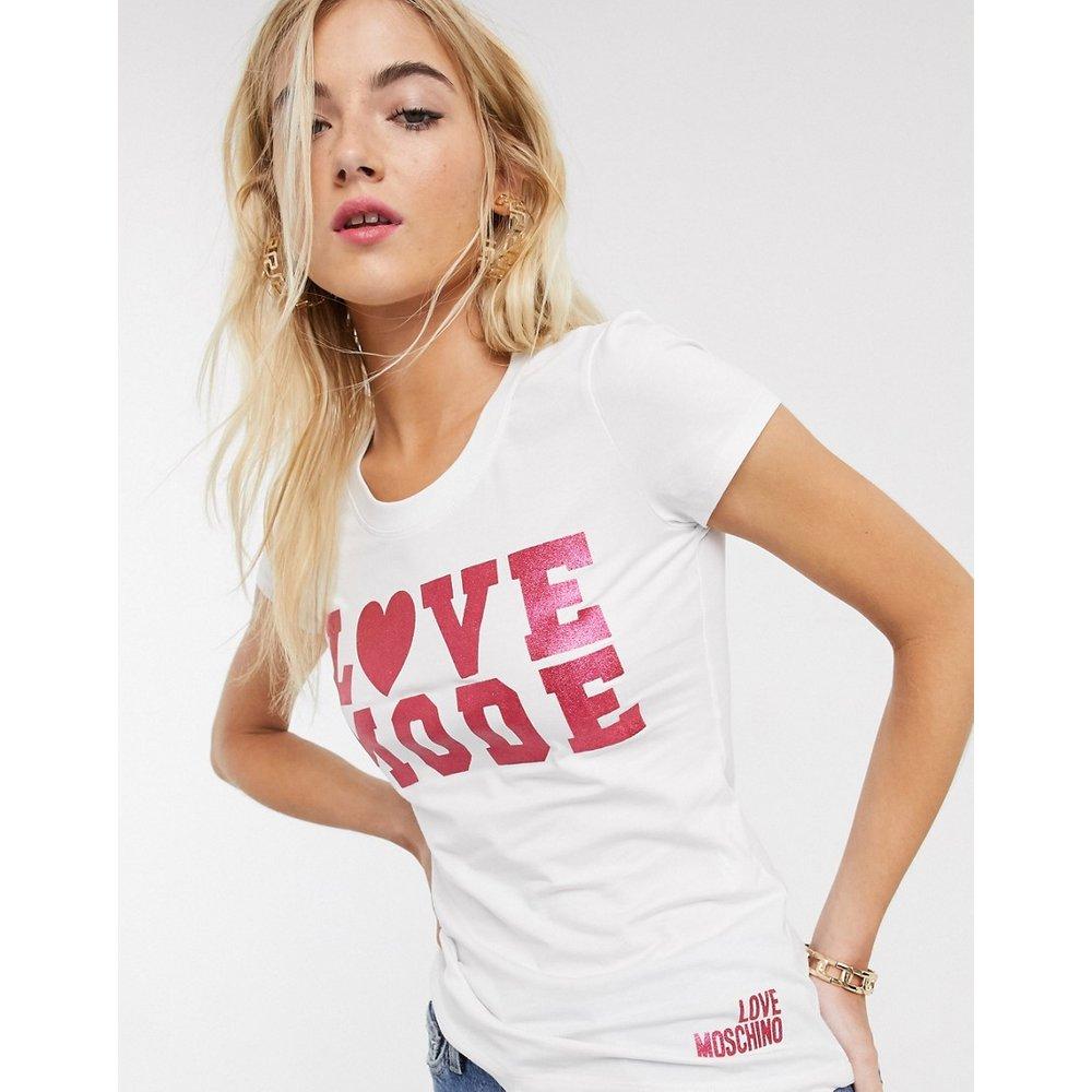 Love mode - T-shirt à imprimé - Love Moschino - Modalova