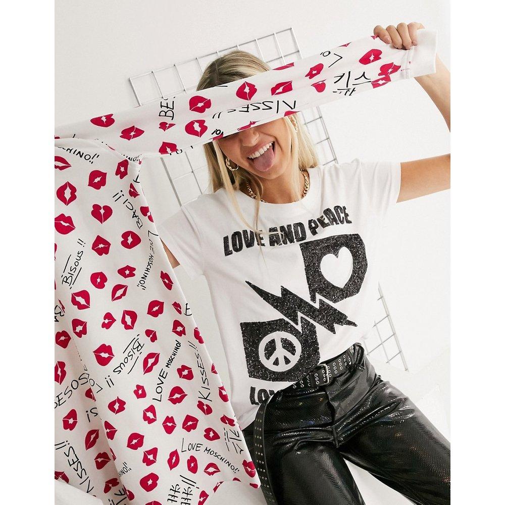Love peace - T-shirt avec ornements - Love Moschino - Modalova