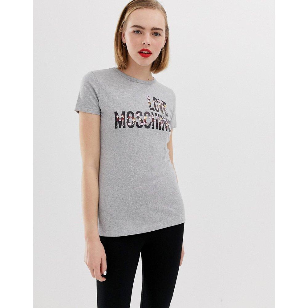 Originalité - T-shirt avec logo - Love Moschino - Modalova
