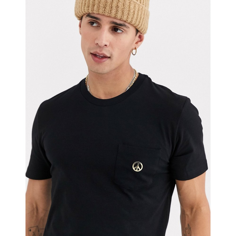 Peace - T-shirt à poche - Love Moschino - Modalova