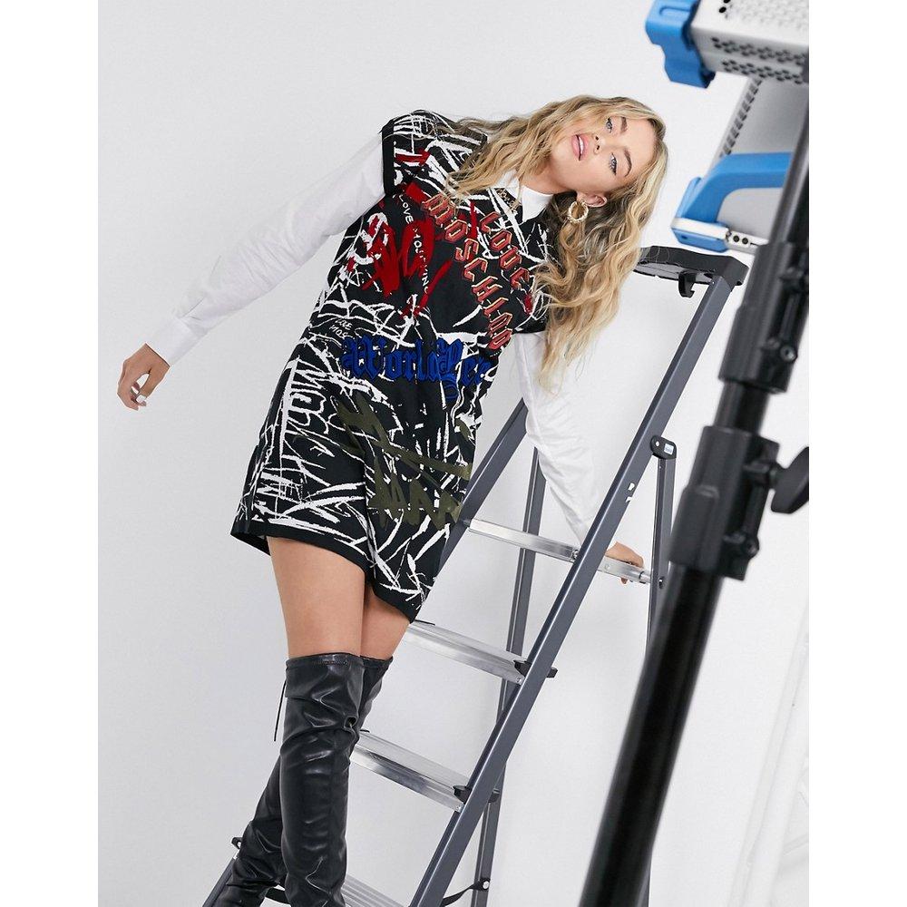 Robe courte à imprimé graffiti - Noir - Love Moschino - Modalova