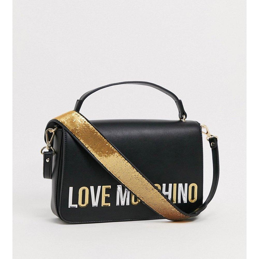 Sac bandoulière à logo - Love Moschino - Modalova