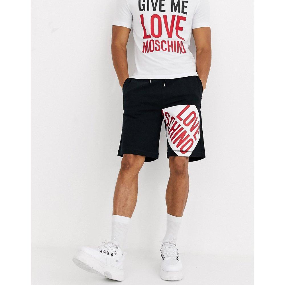 Short en jersey à logo - Love Moschino - Modalova