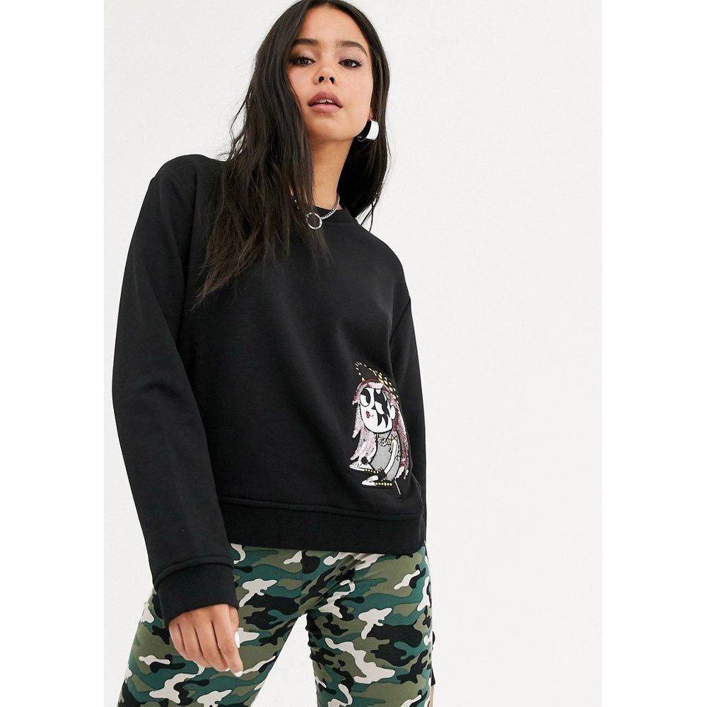 Sweat-shirt à imprimé Punk Girl - Love Moschino - Modalova