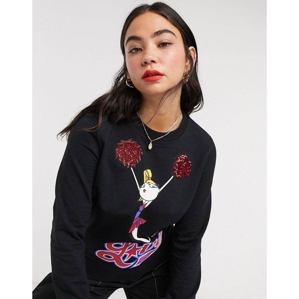 Sweat-shirt à logo et imprimé pom-pom girl - Love Moschino - Modalova