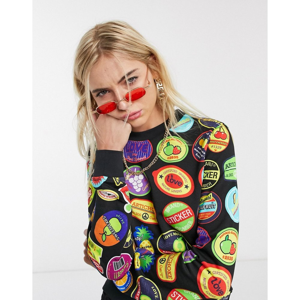 Sweat-shirt imprimé - Love Moschino - Modalova