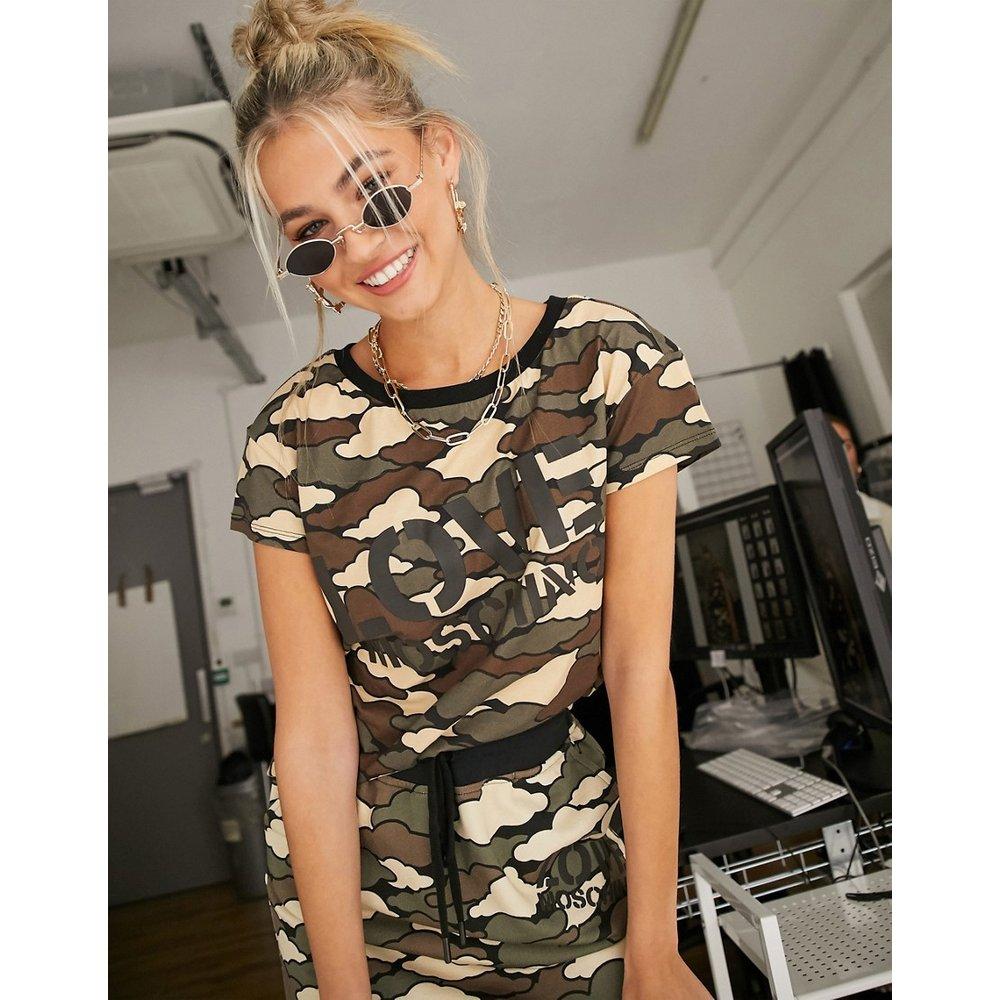 T-shirt à imprimé nuage style camouflage - Love Moschino - Modalova