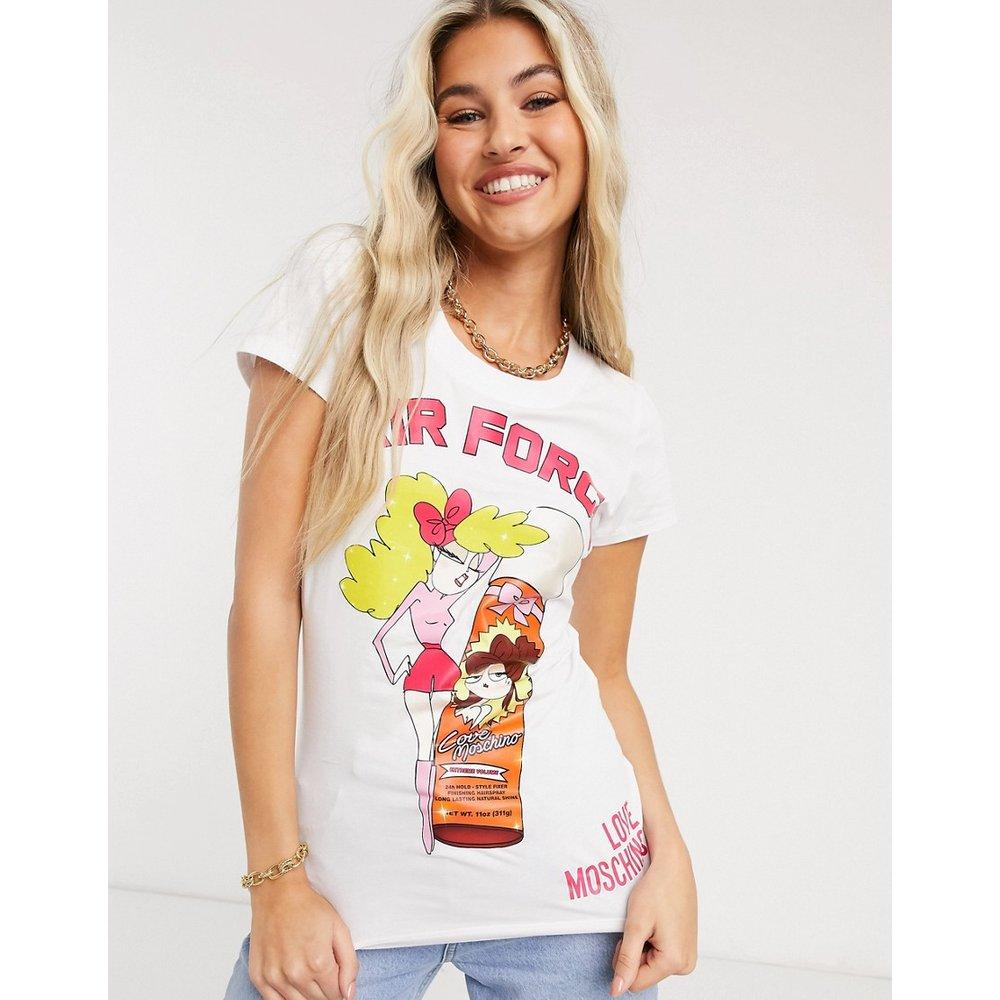 - T-shirt à imprimé poupée et inscription Hair Force - Love Moschino - Modalova