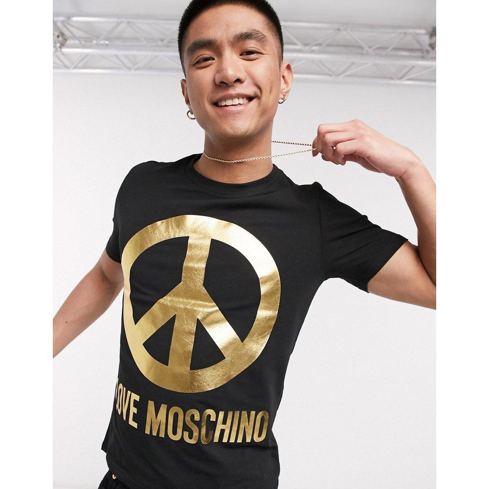 T-shirt à logo doré - Love Moschino - Modalova