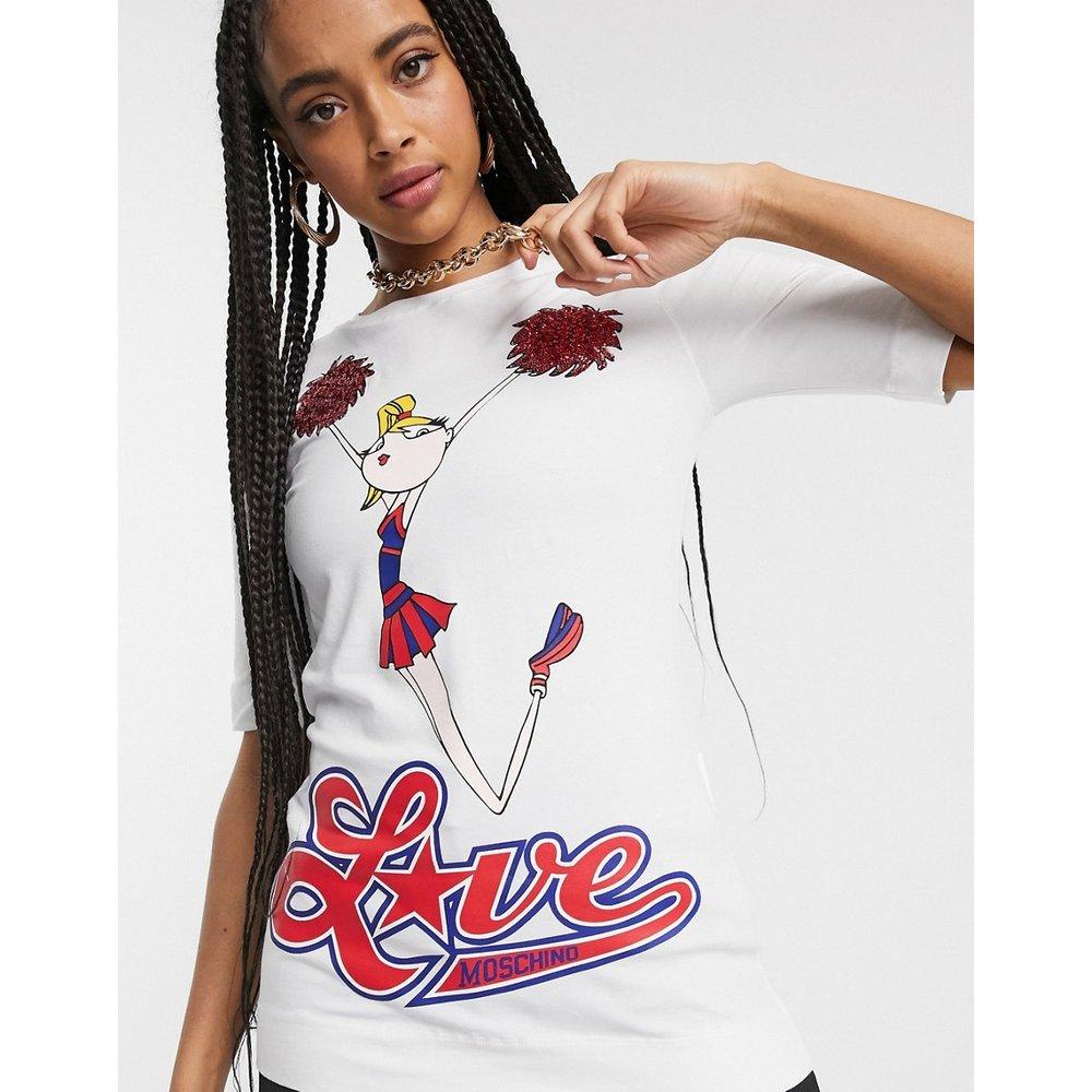 T-shirt à logo et imprimé pom-pom girl - Love Moschino - Modalova