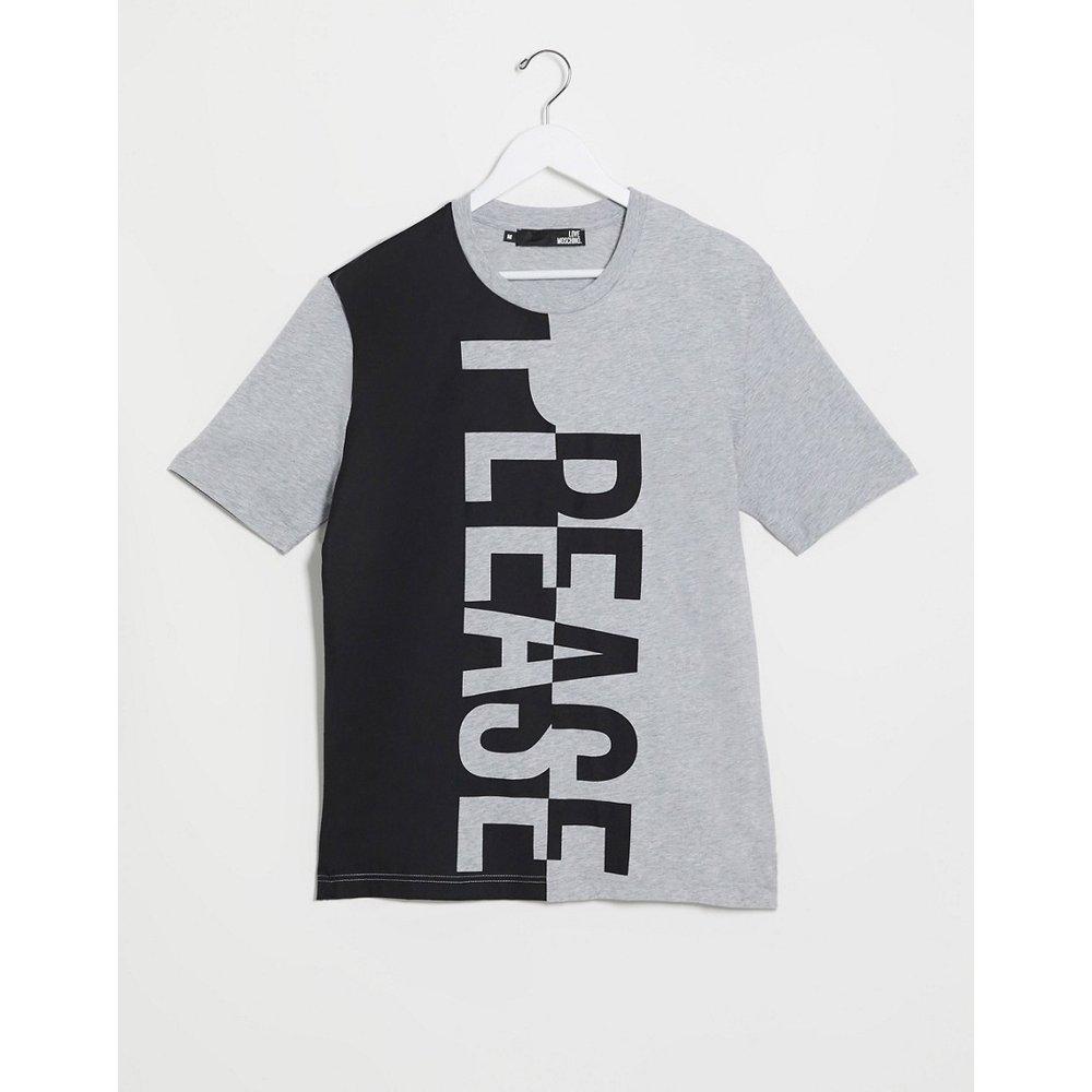 T-shirt à logo vertical - Love Moschino - Modalova