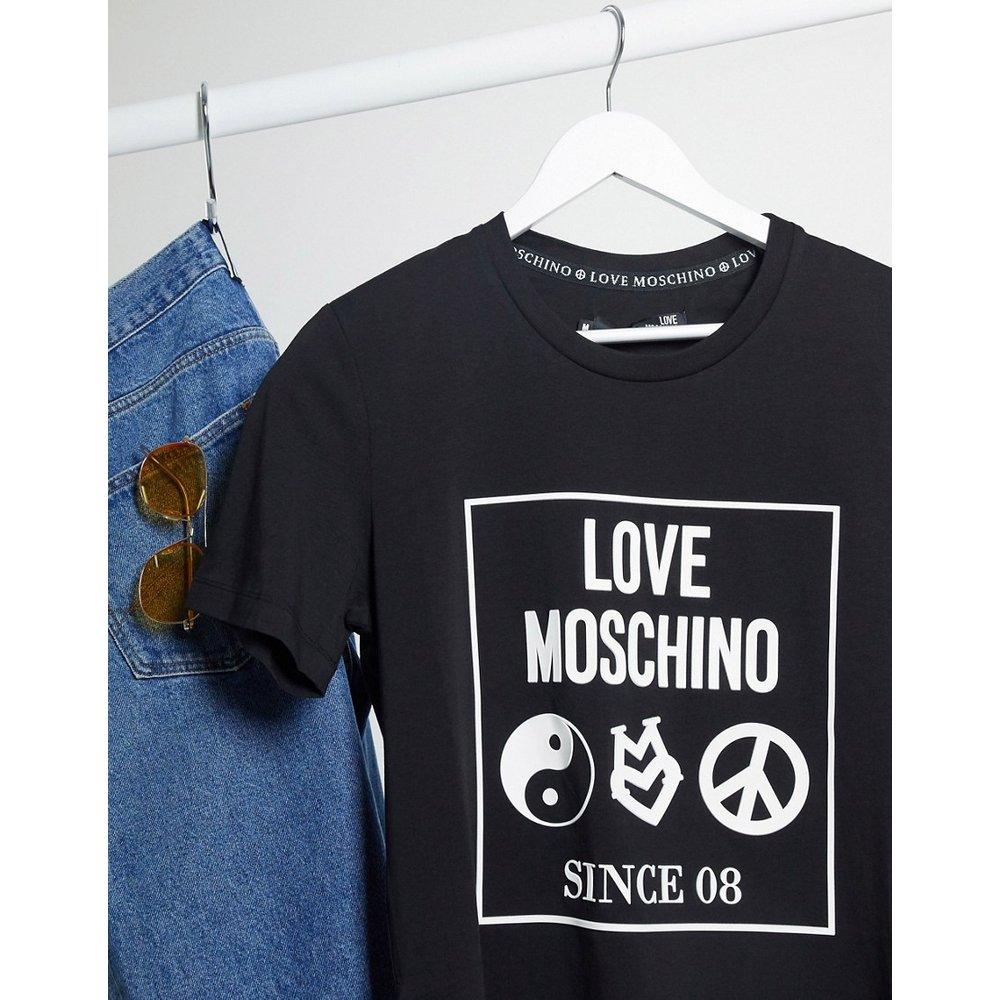 T-shirt avec imprimé encadré - Love Moschino - Modalova